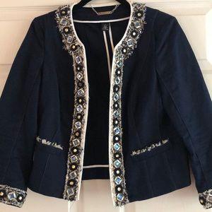 Twill embellished Jacket